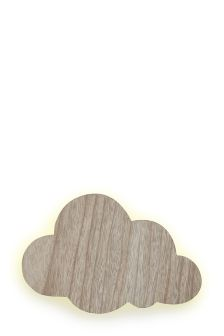 Wooden Cloud Wall Light