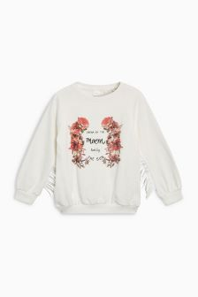 Slogan Tassel Sweater (3-16yrs)