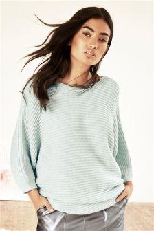 Oversized Asymmetric Ripple Sweater