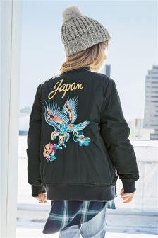 Embroidered Eagle Bomber Jacket (3-16yrs)