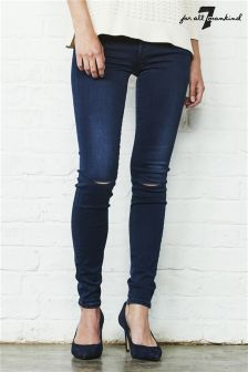 7 For All Mankind The Skinny Slim Illusion Rinsed Indigo Jean