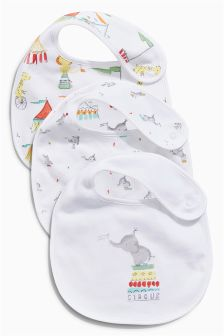 Circus Regular Bibs Three Pack