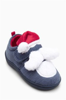 Santa Slippers (Younger Boys)