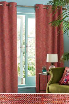 Tonal Bouclé Eyelet Curtains