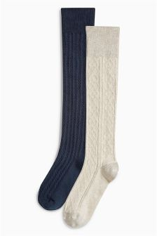 Cable Socks Two Pack