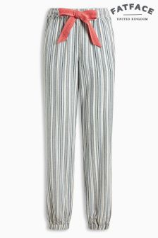 Fat Face Chambray Stripe Cuffed Pant