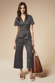 Wrap Cropped Jumpsuit