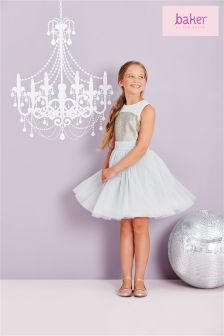Ted Baker Grey Sequin Prom Dress