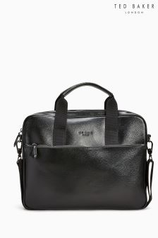 Ted Baker Black Morcor Leather Document Bag