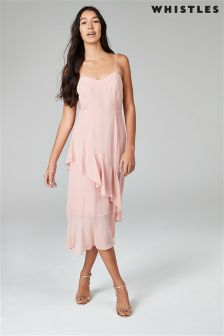 Whistles Pink Frill Dress