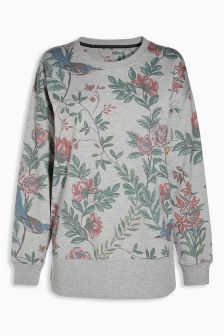 Floral Longline Sweat Top