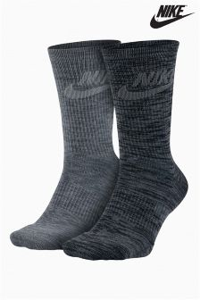 Nike Grey Advance Crew Sock Two Pack