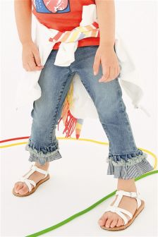 Frill Hem Jeans (3mths-6yrs)