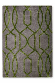 Wool And Viscose Lattice Geo Rug