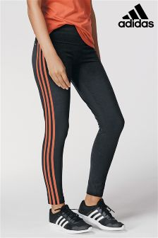 adidas Black Essential 3 Stripe Tight