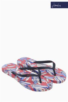 Joules French Navy Shell Printed Flip Flop