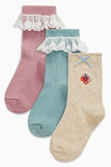Socks Three Pack (Younger Girls)