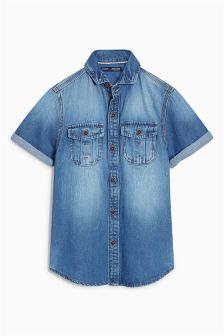 Short Sleeve Denim Shirt (3-16yrs)