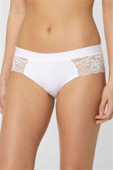 Modal And Lace Midi Briefs