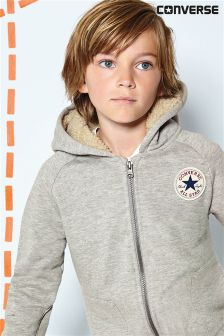Converse Grey Zip Through Hoody