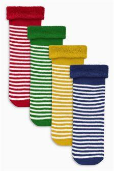 Bright Stripe Socks Four Pack (Younger Boys)