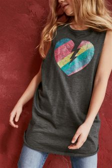 Heart Graphic Dress (3-16yrs)