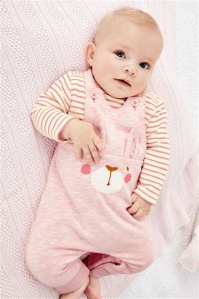 Bunny Dungarees And Bodysuit Set (0mths-2yrs)