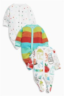 House Sleepsuits Three Pack (0mths-2yrs)