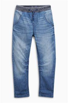 Rib Waist Pull On Jeans (3-16yrs)