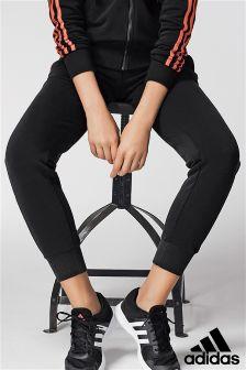 adidas Black Essential 3 Stripe Pant