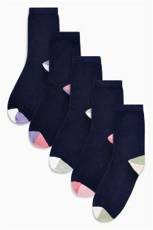 Colourblock Pattern Ankle Socks Five Pack