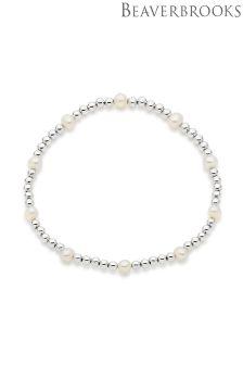 Beaverbrooks Silver Freshwater Cultured Pearl Ball Bracelet