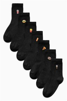 Embroidery Socks Seven Pack (Older Boys)