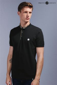 Pretty Green Black Trim Detail Polo