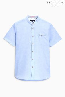 Ted Baker Blue Elvos Grandad Collared Shirt
