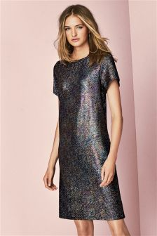Metallic T-Shirt Dress