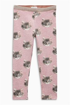 Cat Printed Leggings (3mths-6yrs)