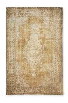 Soft Gold Traditional Rug