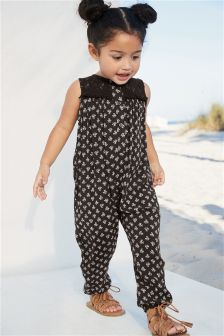 Lace Insert Jumpsuit (3mths-6yrs)