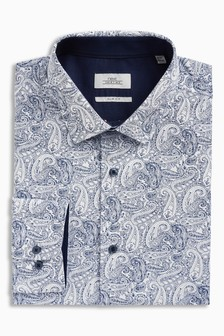 Paisley Print Slim Fit Shirt