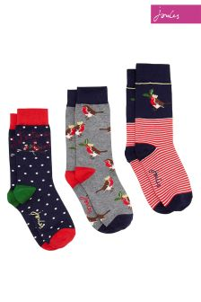 Joules Dog Cracker Sock Three Pack