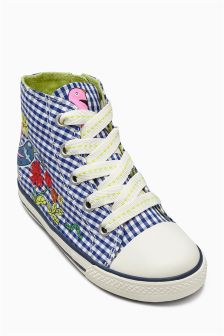 Gingham High Top Boots (Younger Girls)