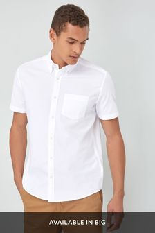 Buy Men's Shirts White Short Sleeve Shortsleeve from the Next UK ...
