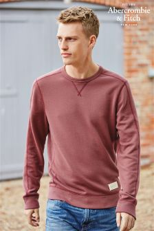 Abercrombie & Fitch Burgundy Crew Sweater