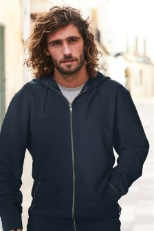 Lightweight Zip Through Hoody With Stretch