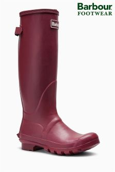 Barbour® Burgundy Jarrow Adjustable Welly