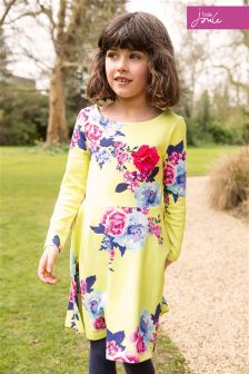 Little Joule Lime Floral Ellie Jersey Dress