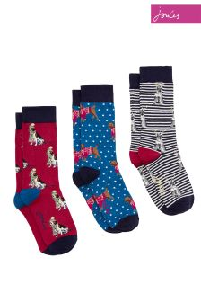 Joules Bird Cracker Socks Three Pack