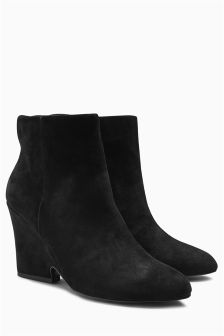 Cut Out Wedge Boots