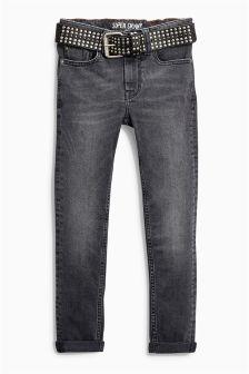 Super Skinny Stud Belted Jeans (3-16yrs)